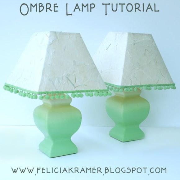 ombre lamp tutorial