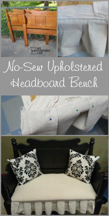 MyRepurposedLife-no-sew-upholstered-headboard-bench