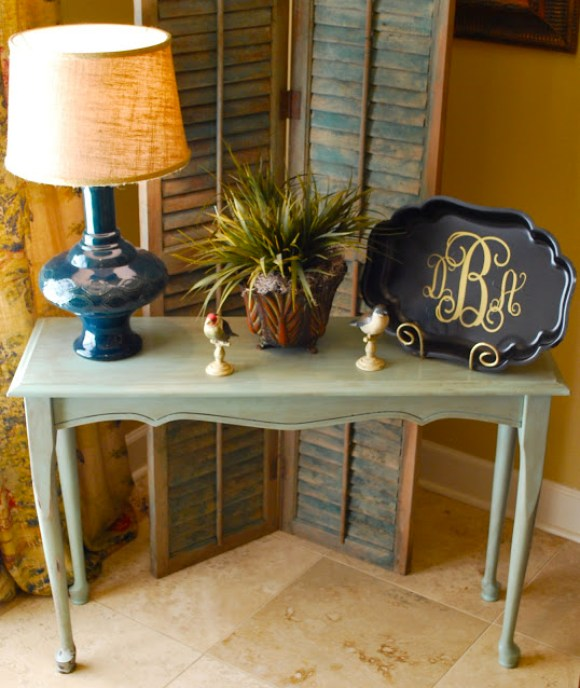 Pretty Console Table Makeover