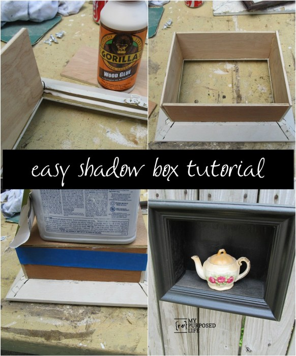 Easy Picture Frame Shadow Box Frame