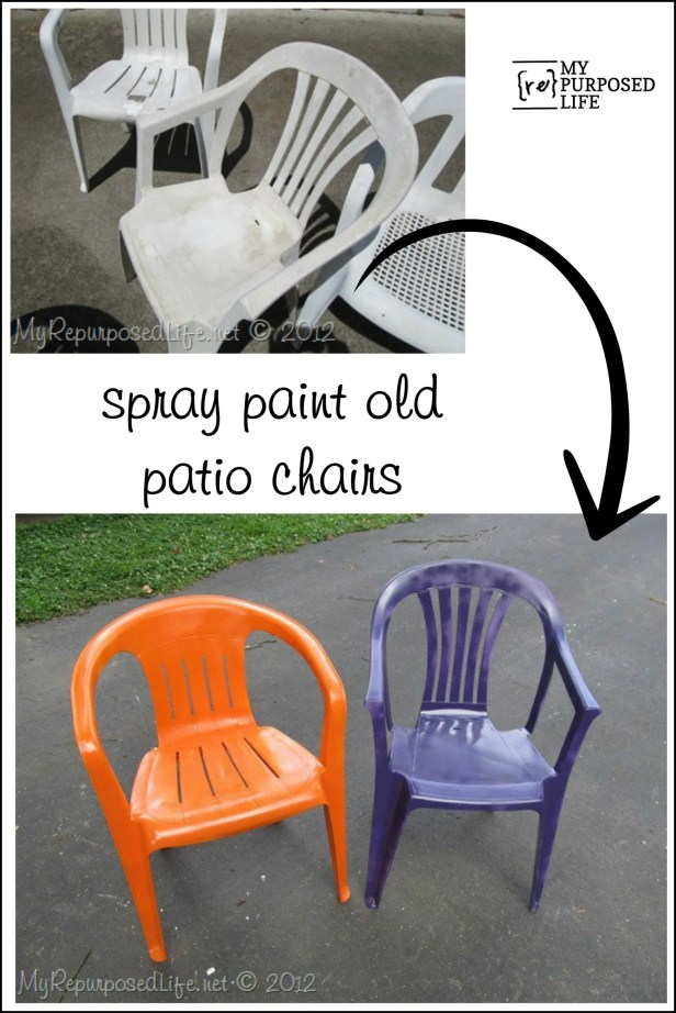Superb Spray Paint Plastic Chairs Ibusinesslaw Wood Chair Design Ideas Ibusinesslaworg