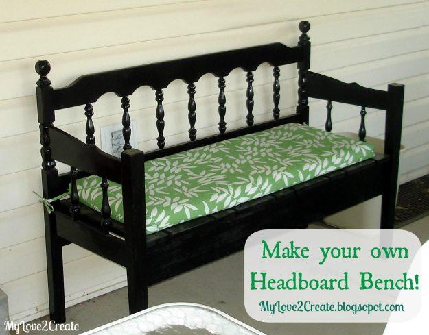 50 headboard bench ideas - my repurposed life®
