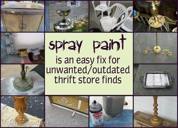 Spray Paint Ideas My Repurposed Life 174 Rescue Re Imagine