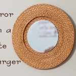 mirror ideas with a plate charger
