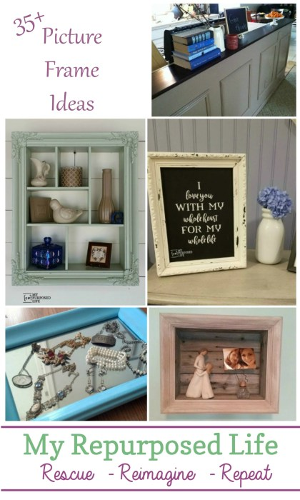 cb2af73008e6 Picture Frame Ideas for Home Decor and More - My Repurposed Life®