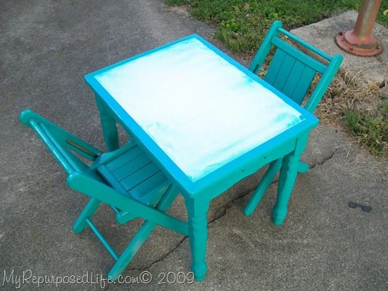 tape off table when painting
