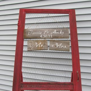 Vintage Screen Door Display
