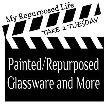 My Repurposed Life-Painted-Repurposed Glassware & More