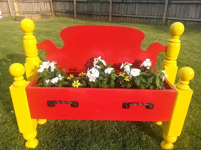 pretty flower bed
