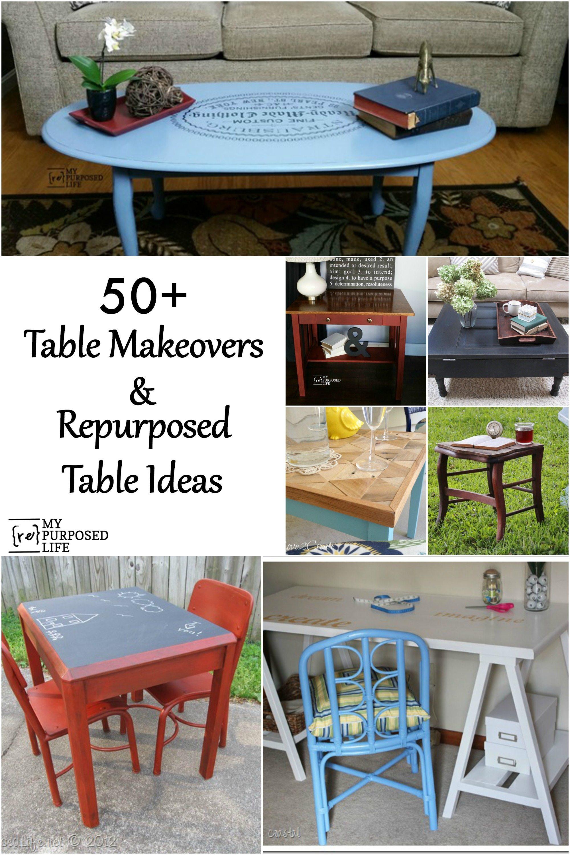 Makeover furniture ideas Diy Repurposed Tables And Table Makeover Ideas Myrepurposedlifecom In My Own Style Repurposed Table Ideas My Repurposed Life