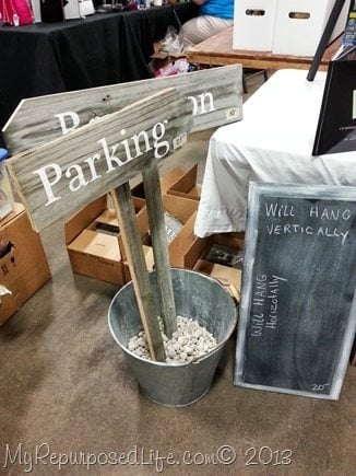parking wedding sign