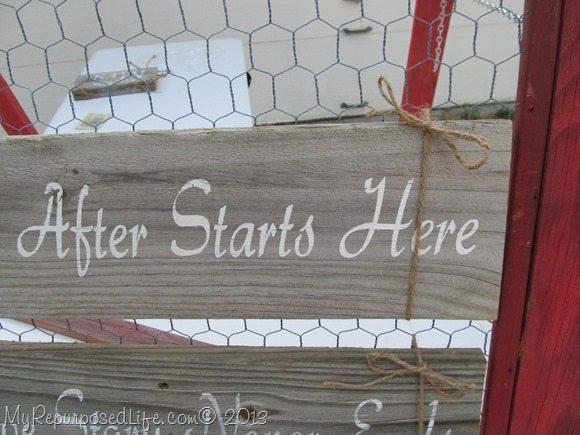 displaying signs