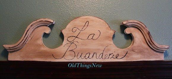 Message Center & La Buanderie Sign