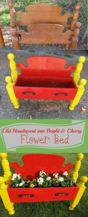Magnificent Repurposed Headboard Into A Flower Bed My Repurposed Life Forskolin Free Trial Chair Design Images Forskolin Free Trialorg
