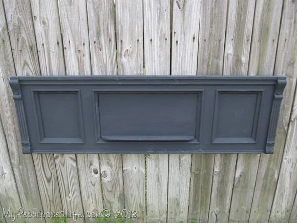 black piano front using DIY chalk paint