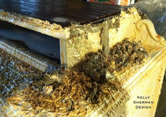 stripping furniture with soygel