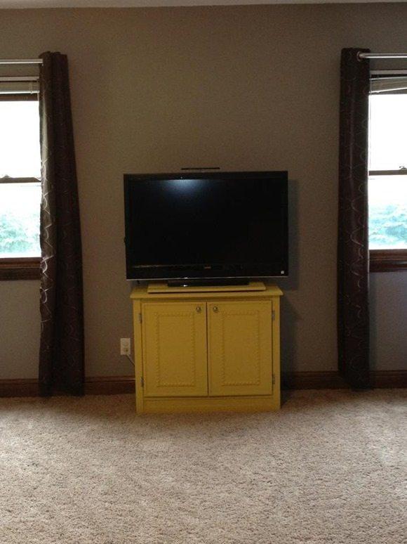repurposed console tv