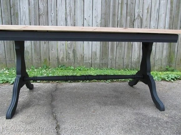 coffee table with flooring as a top