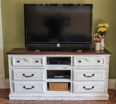 dresser to tv console media center