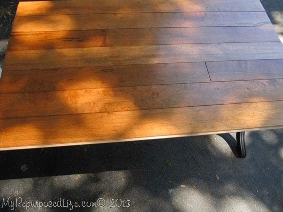hardwood floor top