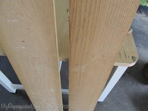 old boards for bottom shelf