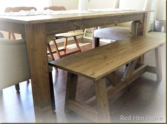 Red Hen Home Solomon Table and bench