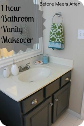 quick bathroom vanity makeover