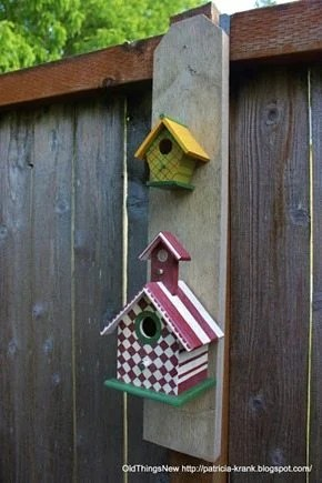 small painted birdhouses