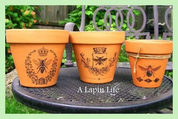 transfer images to terra cotta pots