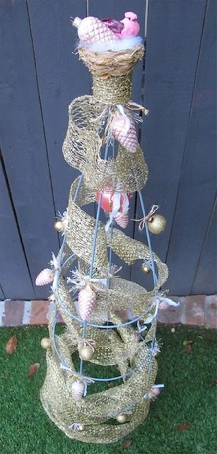 decorated tomato cage
