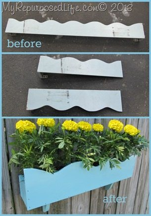 how to make a flower box from a cornice piece