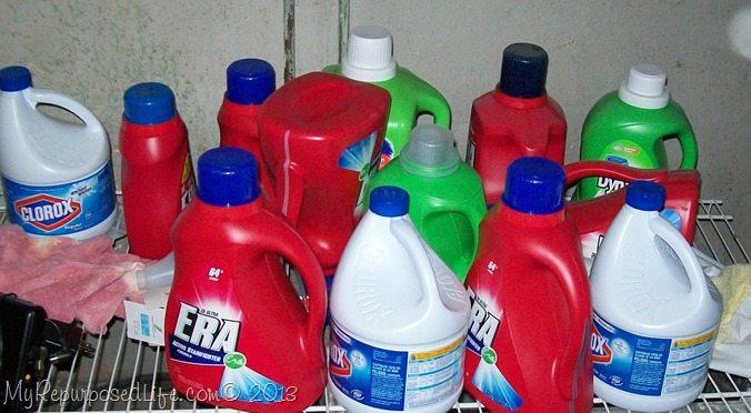 laundry detergent jugs