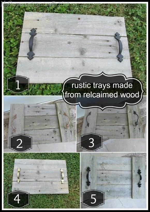 rustic trays reclaimed wood