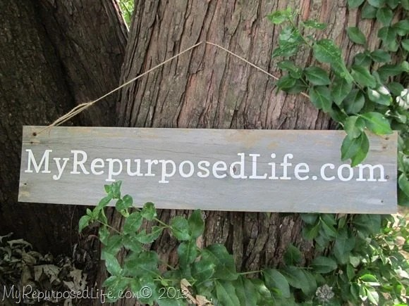 rustic wooden sign My Repurposed Life