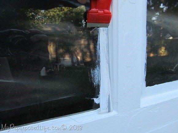 scrape paint off window