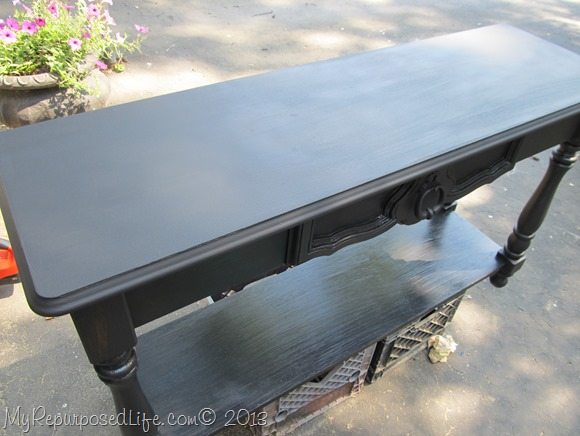 sofa table DIY chalk paint primer