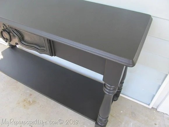 sofa table diy chalky paint primer