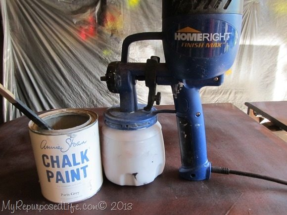 chalk paint HomeRight sprayer