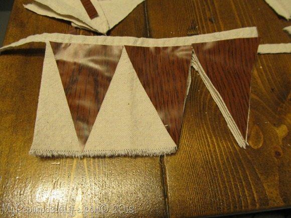 drop cloth chalkboard bunting