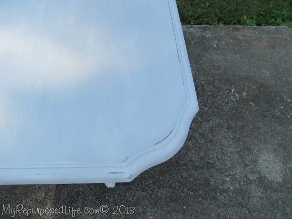 lightly distressed table