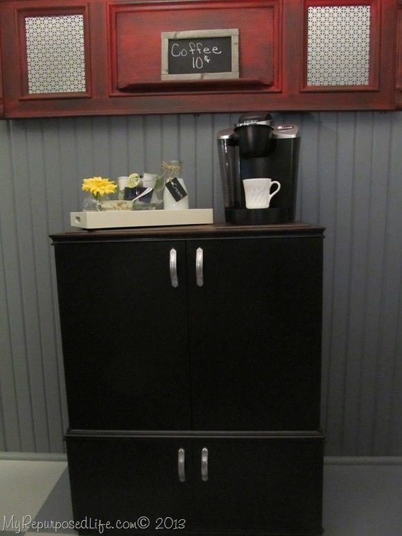 radio cabinet-coffee-bar