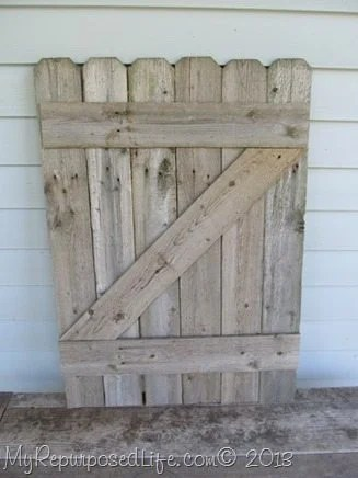 rustic fence gate