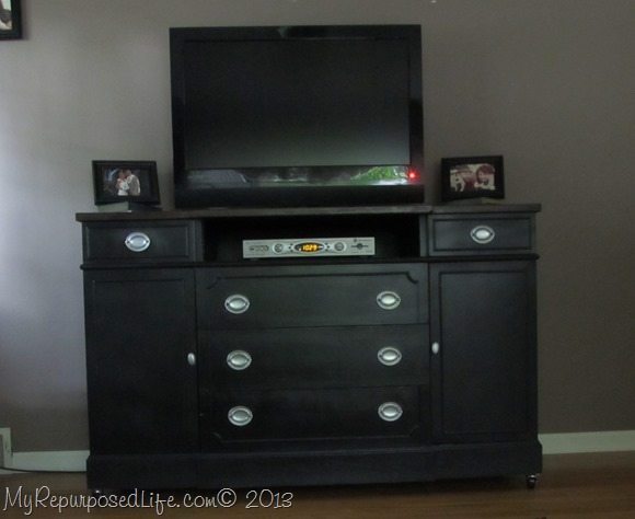 black-media-center-repurposed buffet