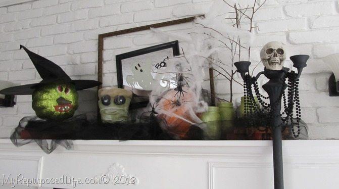 halloween-mantel-with-Krylon