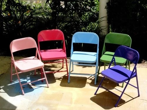 spray-painted-folding-kids-chairs