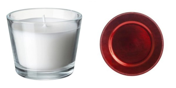 Votive and charger plate
