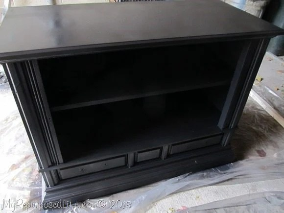 howt to repurpose a t.v. cabinet