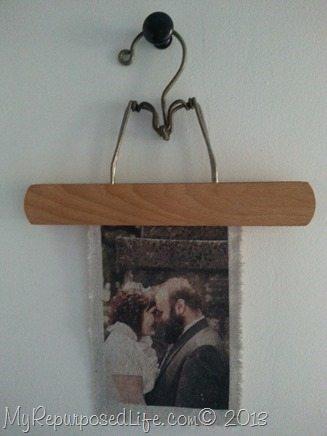 wedding photo printed on fabric