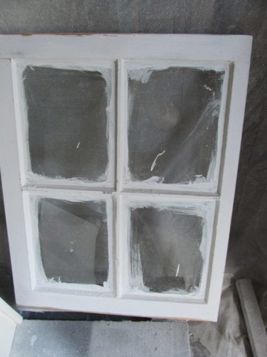 spray window with paint sprayer