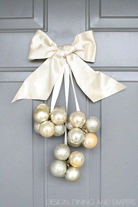 Dollar Ornament DIY door decor